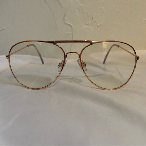 61c26c703b80 amazon Accessories - Rose Gold Fake Glasses